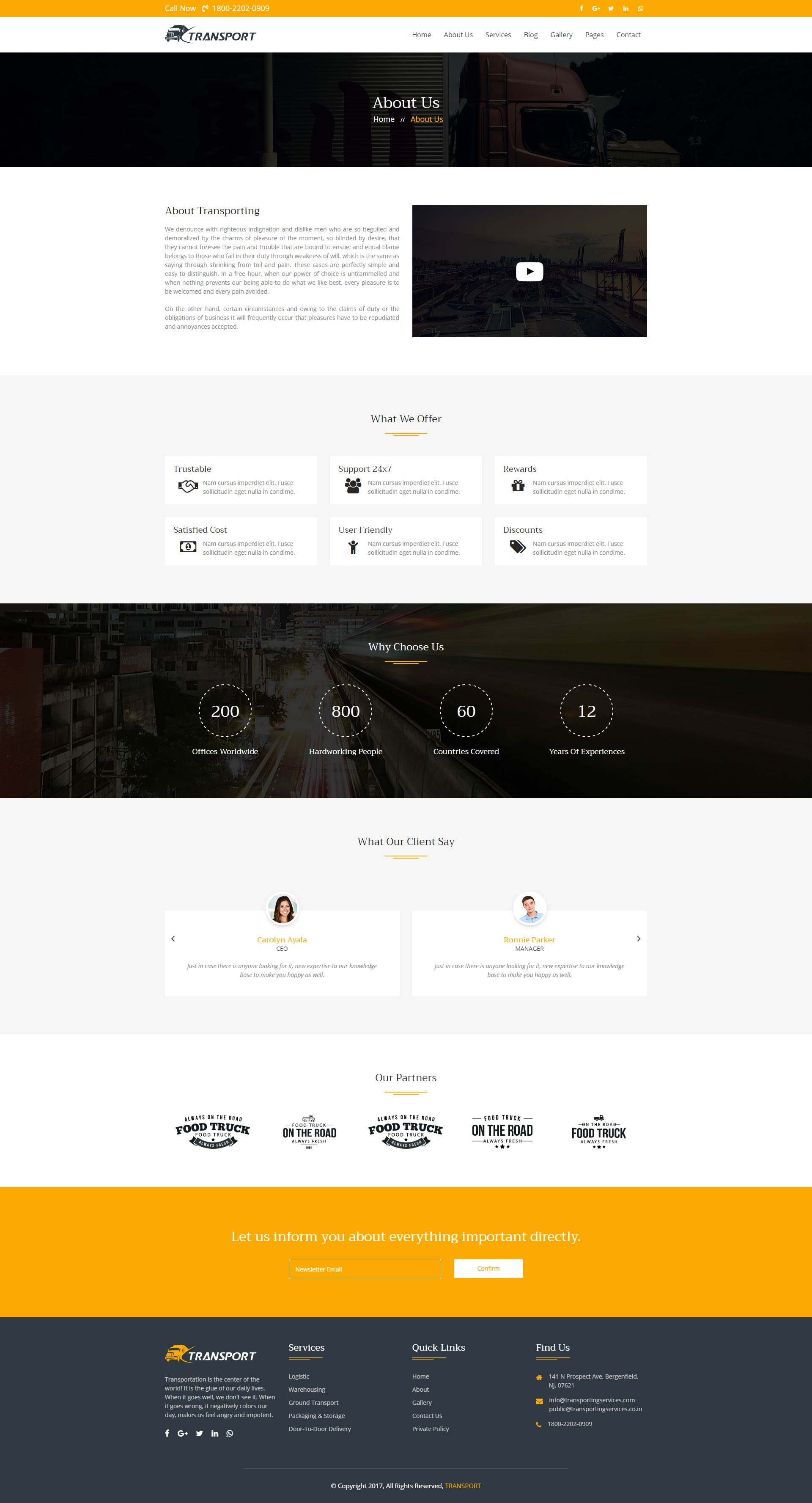 transport logistics html template by kamleshyadav themeforest. Black Bedroom Furniture Sets. Home Design Ideas