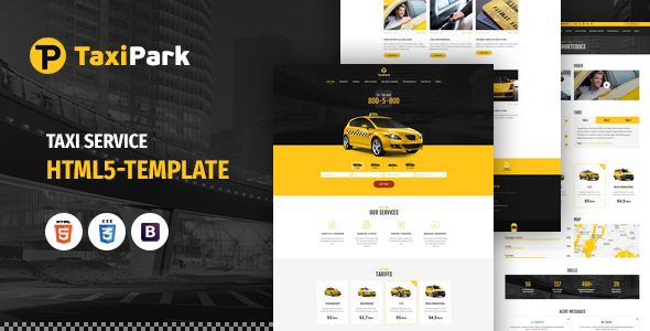 TaxiPark - Taxi Service Company HTML5 Template - Corporate Site Templates