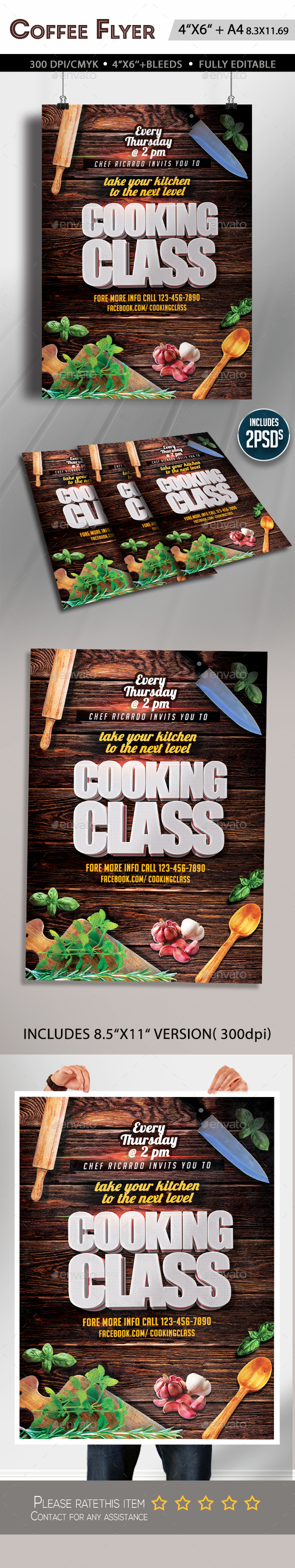 Cooking Lessons Flyer - Clubs & Parties Events