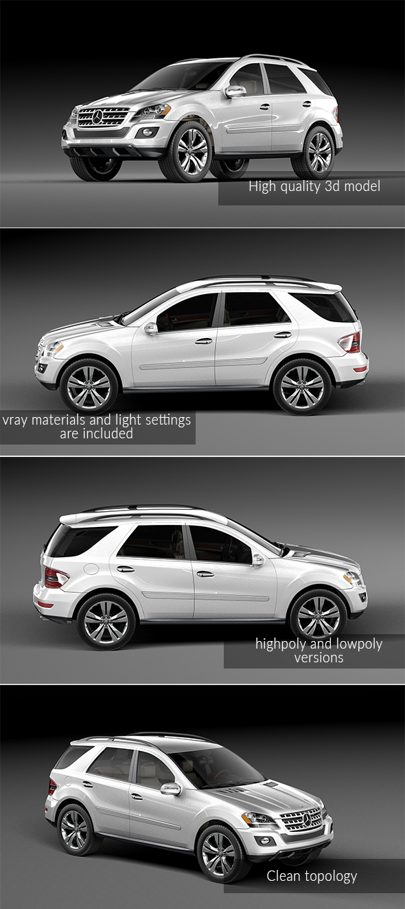 Mercedes Benz ML 500 - 3DOcean Item for Sale