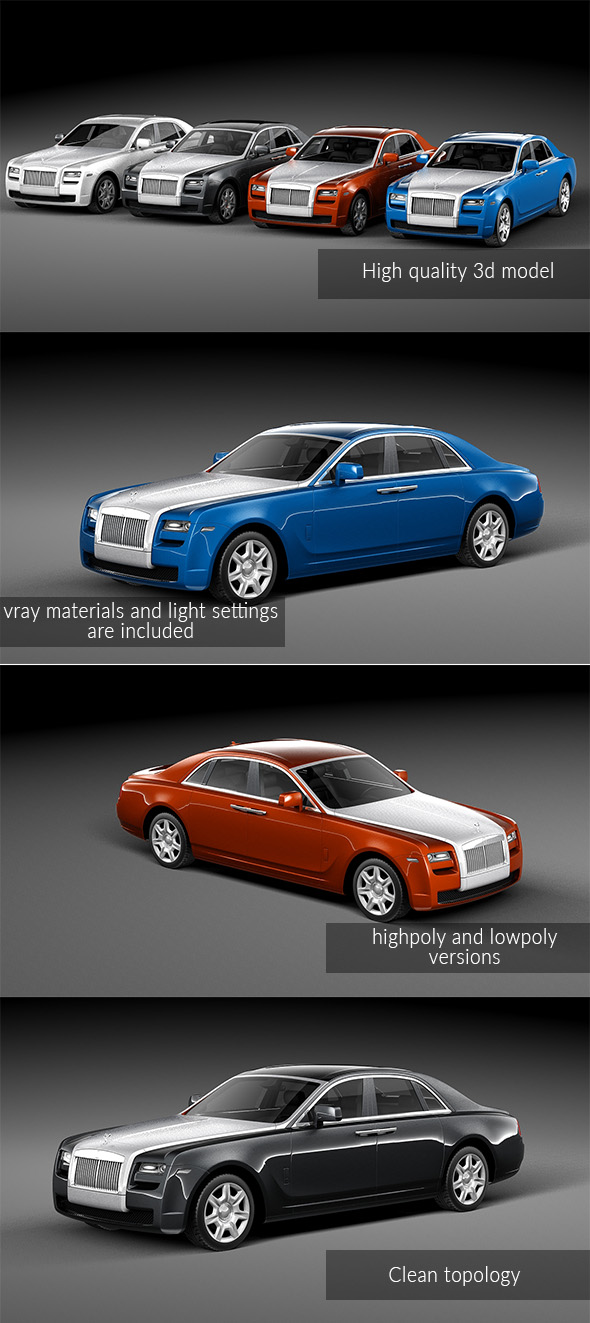 Rolls Royce Ghost 2011 - 3DOcean Item for Sale