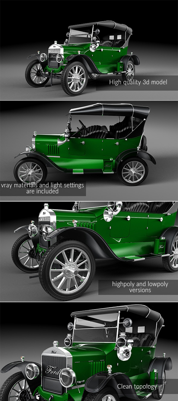 """Ford Model T 1924 """"Tin Lizzie"""" - 3DOcean Item for Sale"""