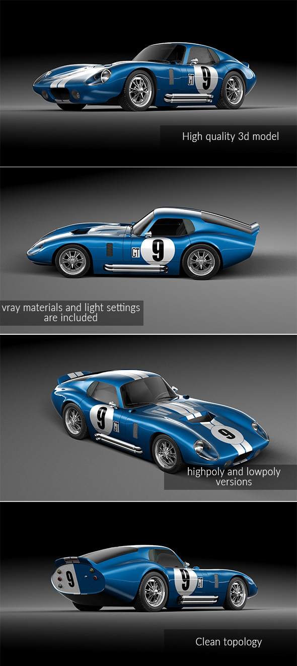 Shelby Cobra Daytona 1964 - 3DOcean Item for Sale
