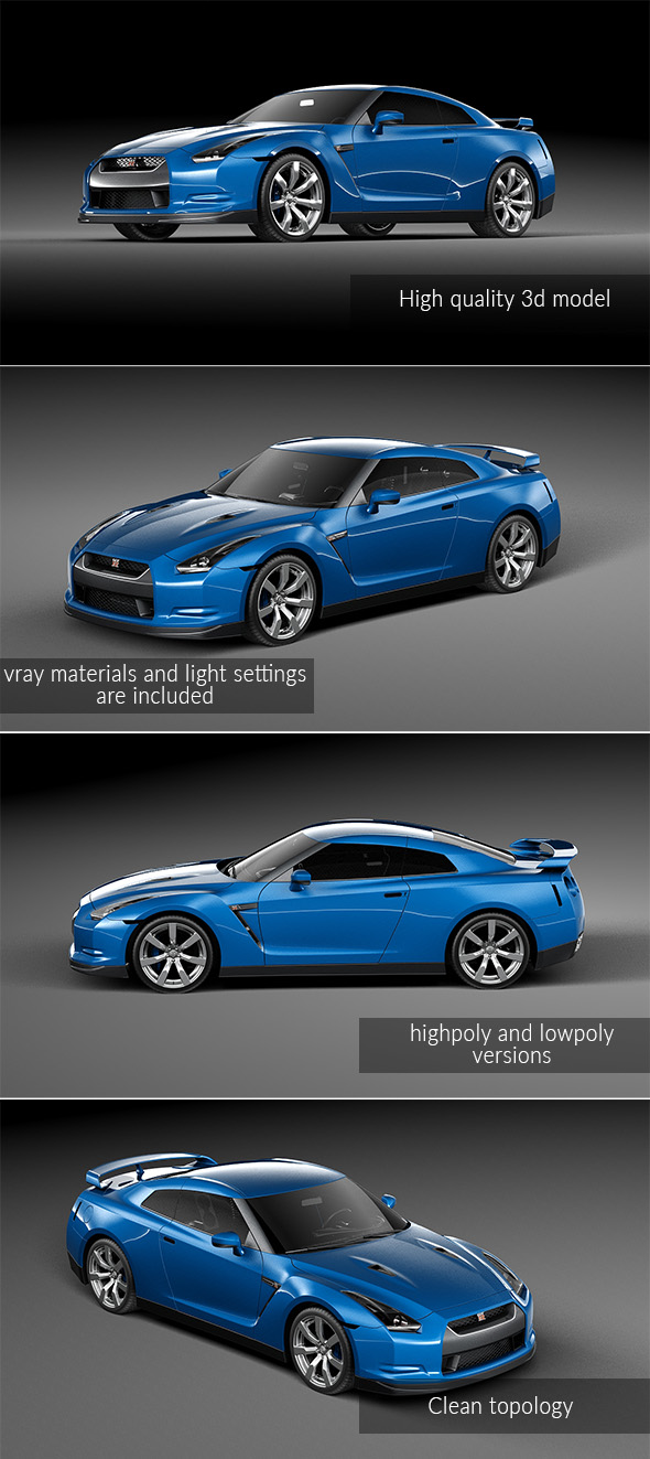 Nissan GTR - 3DOcean Item for Sale
