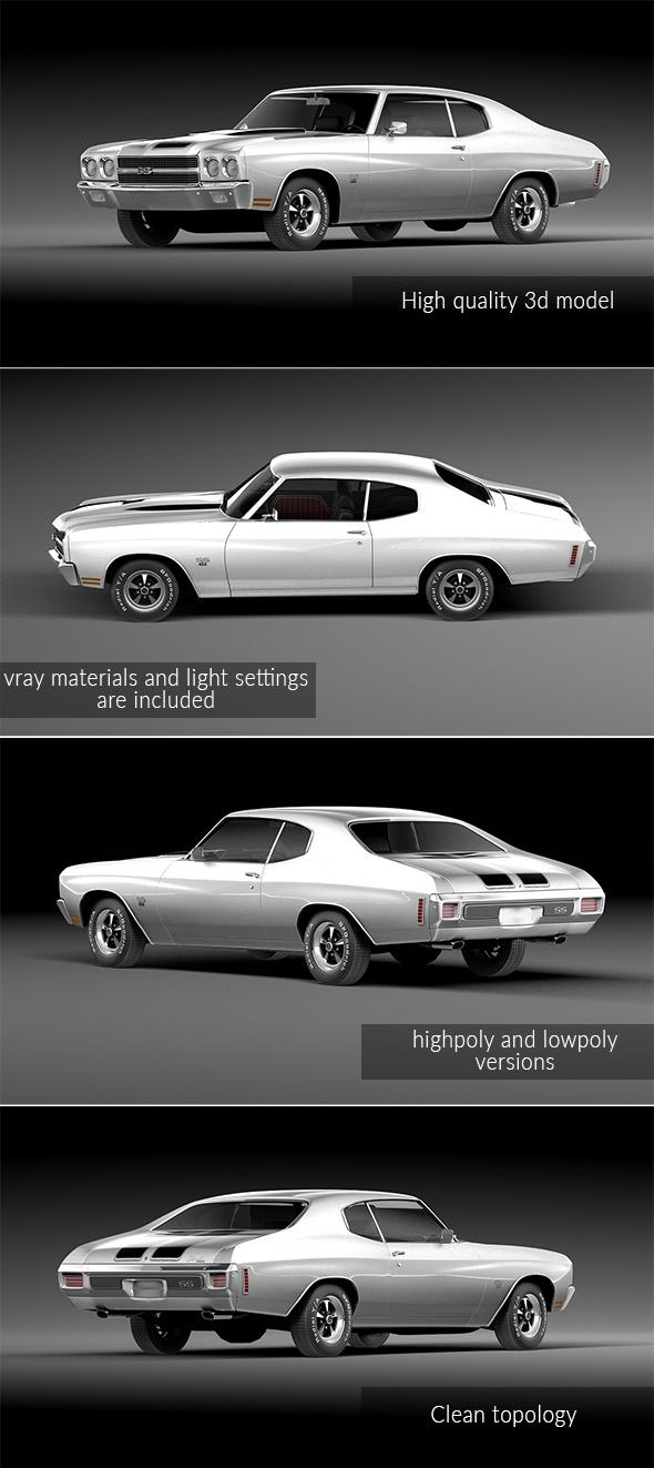 Chevrolet Chevelle SS 1970 - 3DOcean Item for Sale