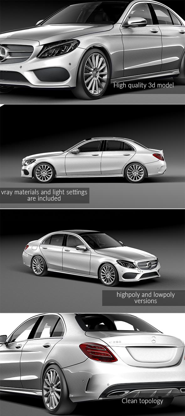 Mercedes Benz C-Class - 3DOcean Item for Sale