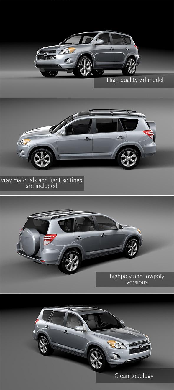 Toyota Rav 4 2010 - 3DOcean Item for Sale