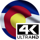 Flag 4K Colorado On Realistic Looping Animation With Highly Detailed Fabric - VideoHive Item for Sale