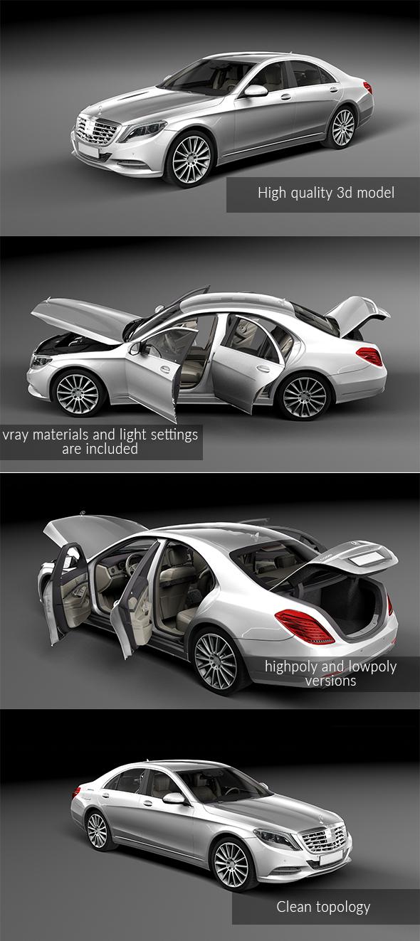 Mercedes Benz S500 - 3DOcean Item for Sale