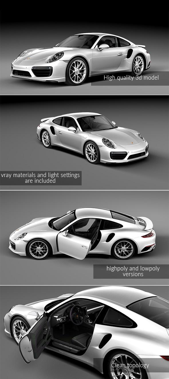 Porsche 911 Turbo S 2016 - 3DOcean Item for Sale