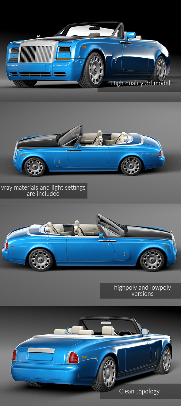 Rolls Royce Phantom cabrio - 3DOcean Item for Sale