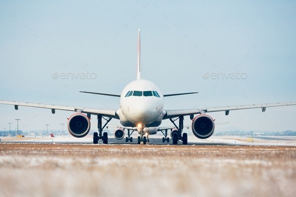 Airport in winter - Stock Photo - Images