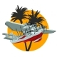 Cartoon Retro Sea Plane - GraphicRiver Item for Sale