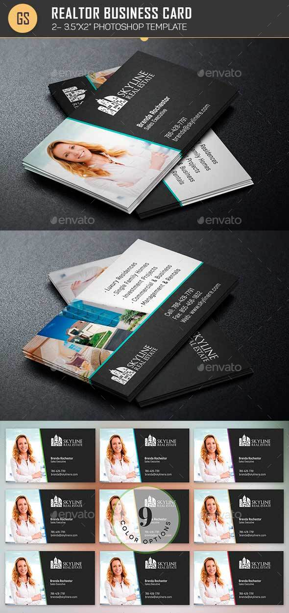 Real estate business card template by godserv2 graphicriver real estate business card template industry specific business cards reheart Image collections