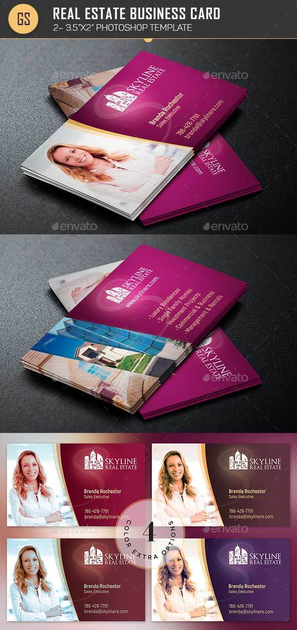 Real estate business card template by godserv2 graphicriver real estate business card template industry specific business cards flashek Image collections