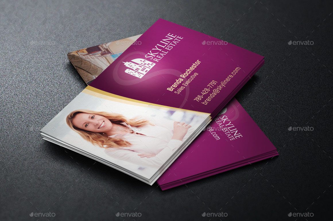 Real estate business card template by godserv2 graphicriver preview image setrealtor business card template preview 1g flashek Images