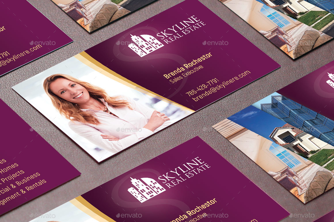 Real Estate Business Card Template By Godserv2 Graphicriver