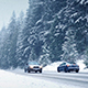 Cars On Winter Highway In Blizzard - VideoHive Item for Sale