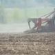 Harrows Cultivating Field