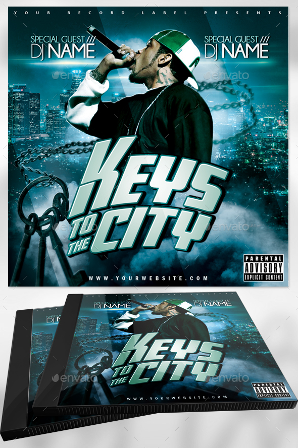 Mixtape Cover Art - Photoshop CD Template - CD & DVD Artwork Print Templates