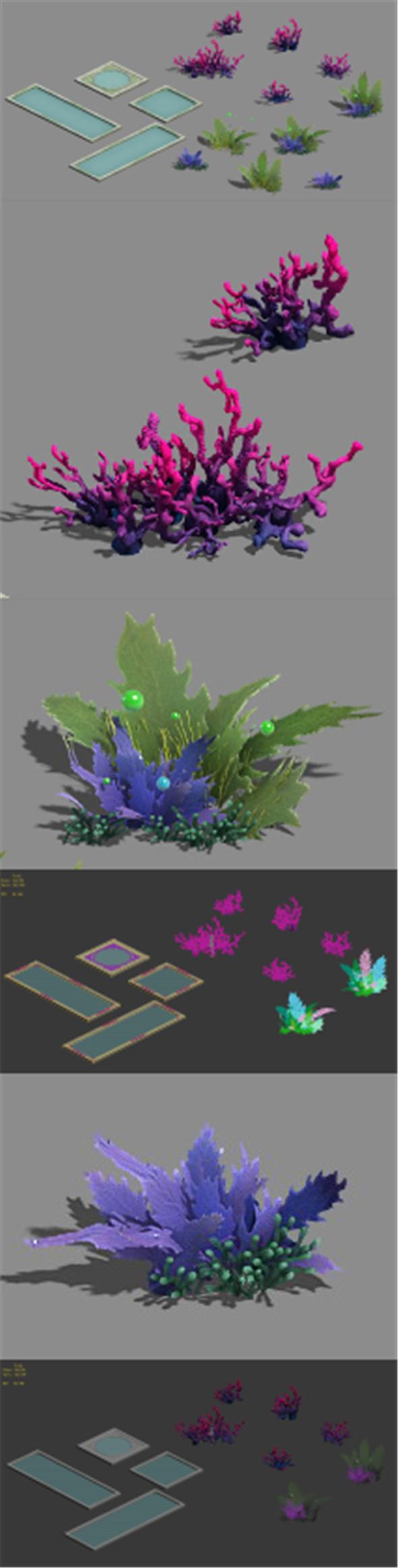 Plant - pool - aquatic plants - 3DOcean Item for Sale