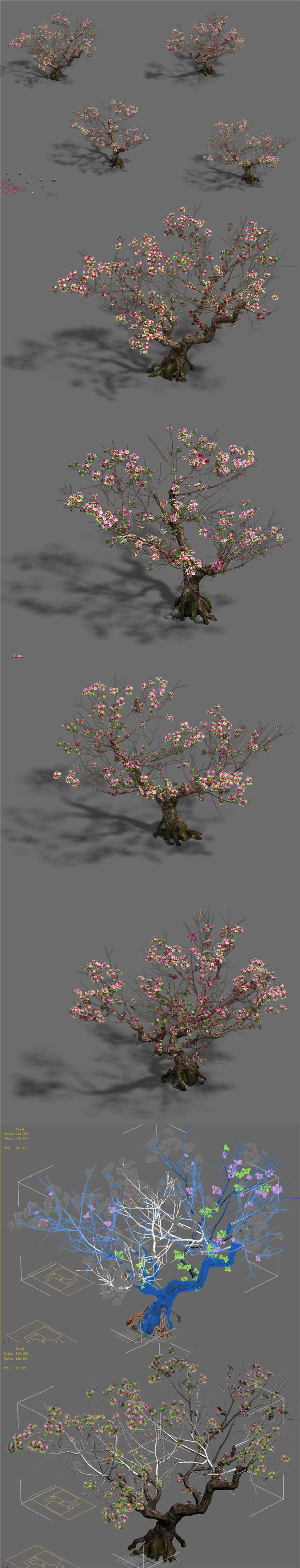 Plant - Peach Tree 18 - 3DOcean Item for Sale