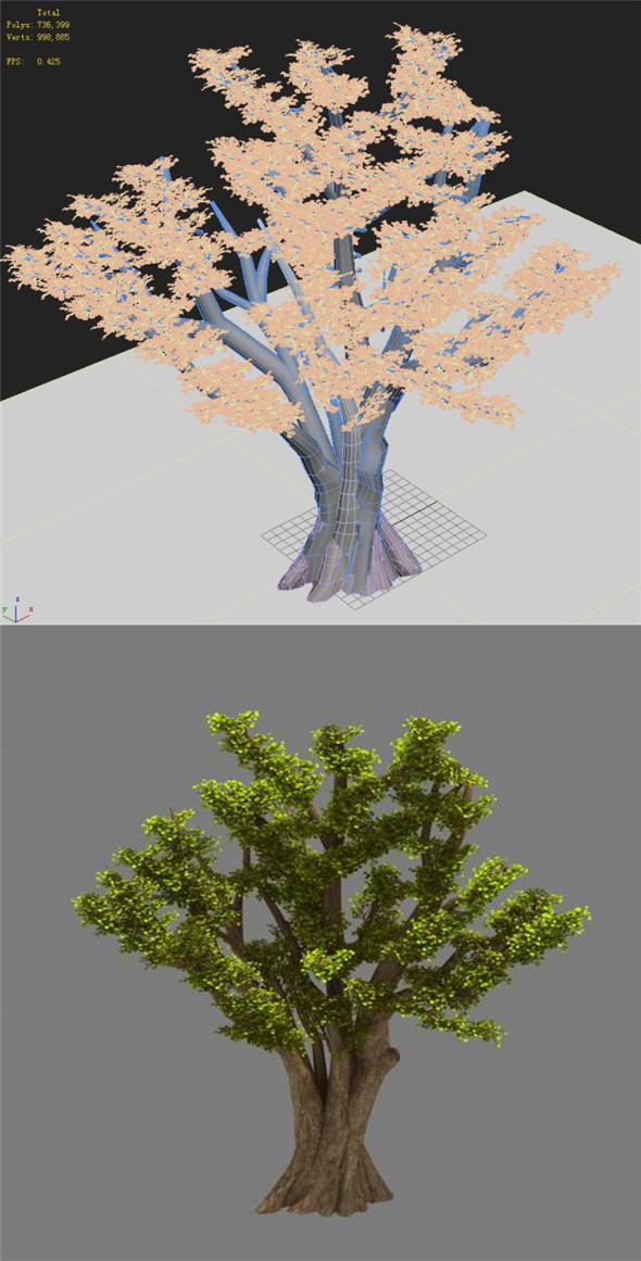 Plant - Ginkgo Tree 01 - 3DOcean Item for Sale
