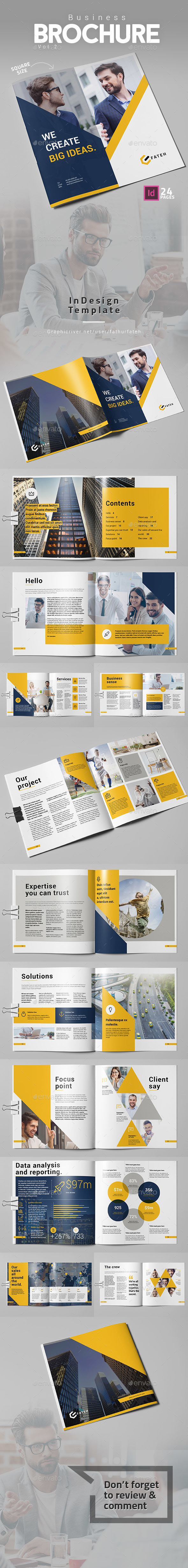 Business Brochure Vol.2 Square - Corporate Brochures