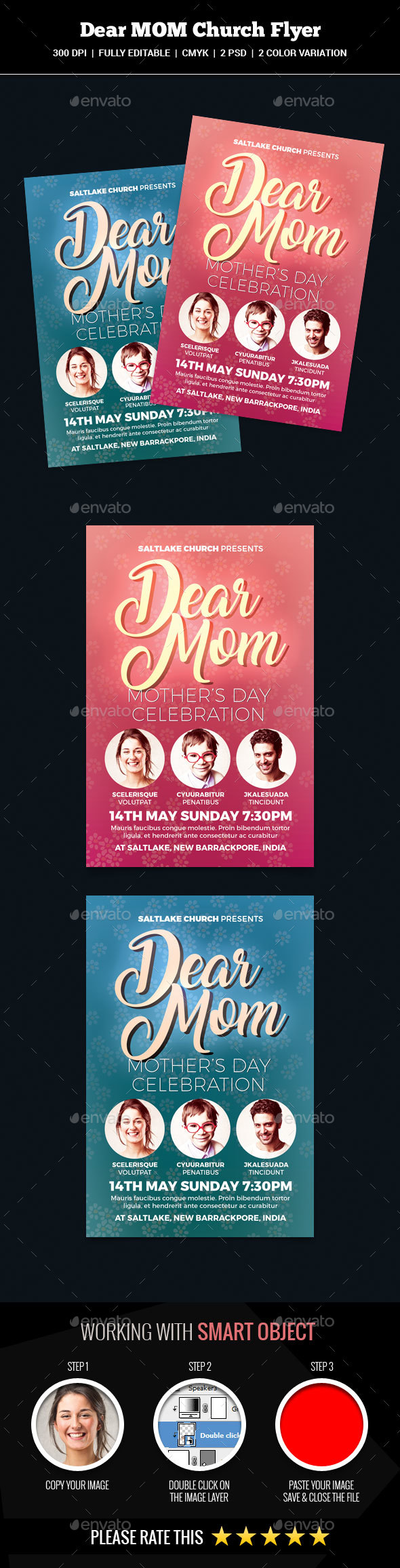 Dear Mom Church Flyer - Church Flyers
