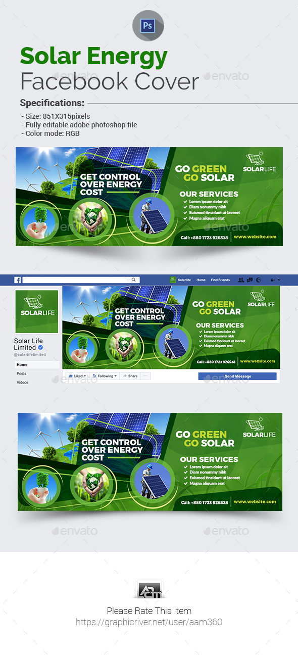 Solar Energy Facebook Cover - Facebook Timeline Covers Social Media