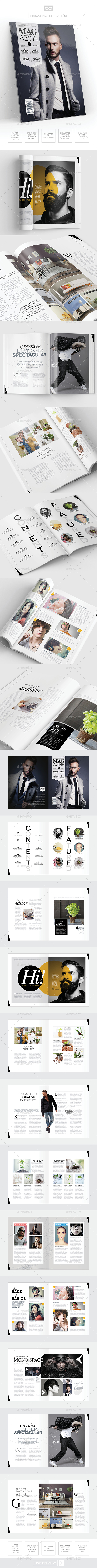 Magazine Template - InDesign 24 Page Layout V12 - Magazines Print Templates