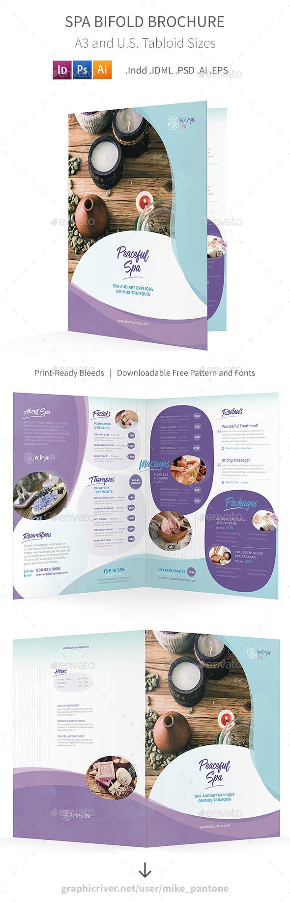 Spa Bifold / Halffold Brochure 8 - Informational Brochures