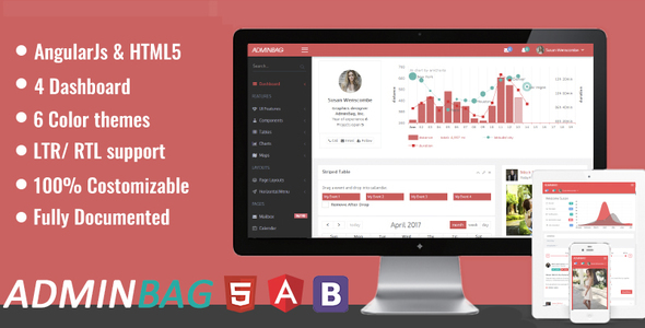 Admin bag – Angular Admin Responsive Template &  Dashboard