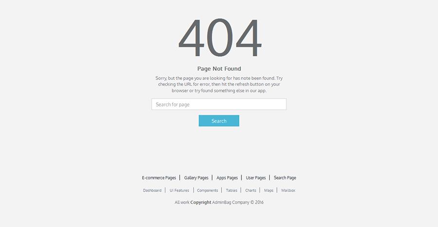 Admin bag - Angular Admin Responsive Template & Dashboard