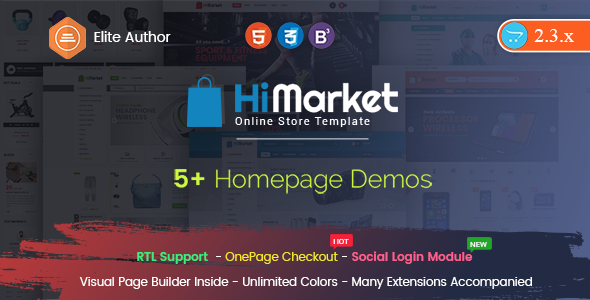 HiMarket – Drag & Drop OpenCart 2.3 Theme