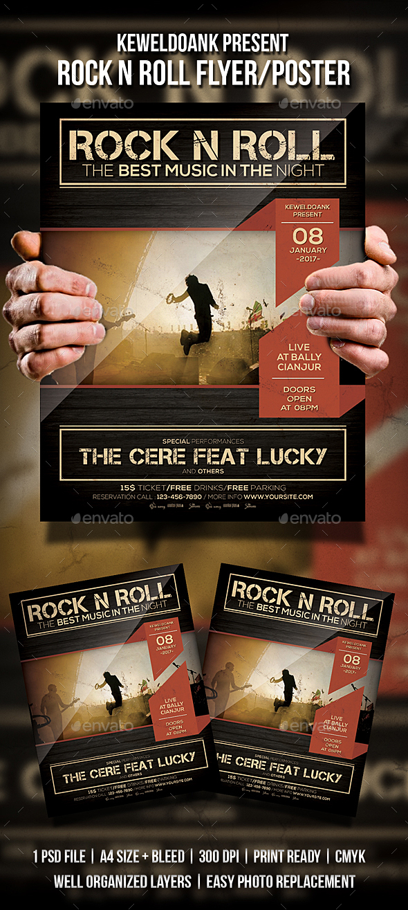 Rock N Roll Flyer / Poster - Events Flyers