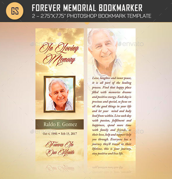 free memorial bookmark template download - forever memorial bookmark template by godserv2 graphicriver