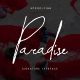 Paradise | Signature Typeface - GraphicRiver Item for Sale