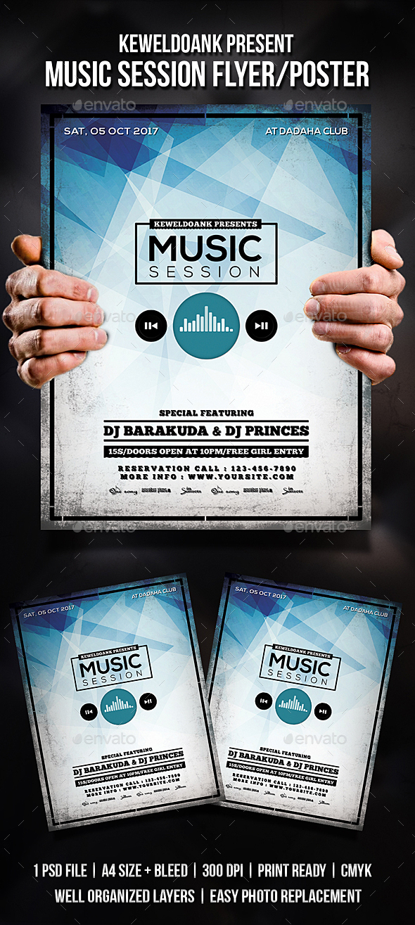 Music Session Flyer / Poster - Clubs & Parties Events