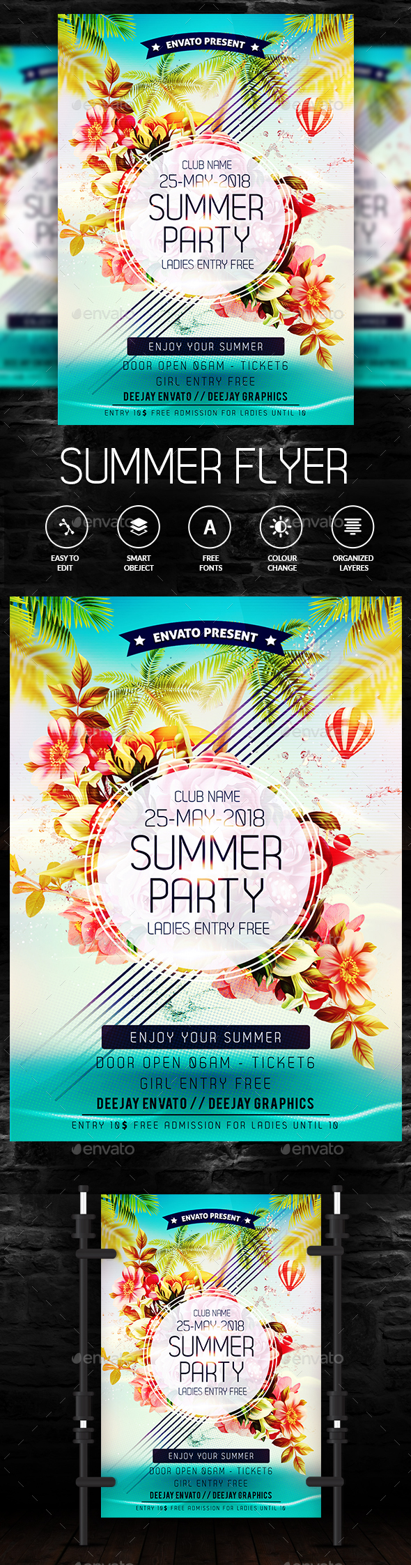 Summer Party Flyer - Events Flyers