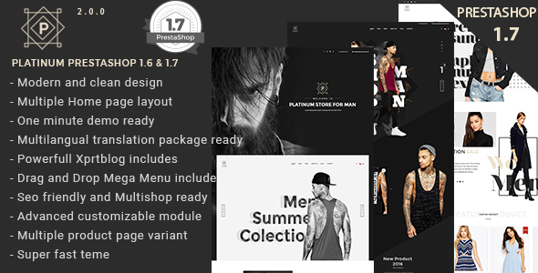 Platinum Fashion and Accessories Prestashop 1.6 and 1.7 Theme