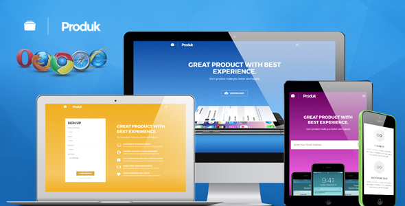 Produk Responsive Showcase Landing Page - Apps Technology