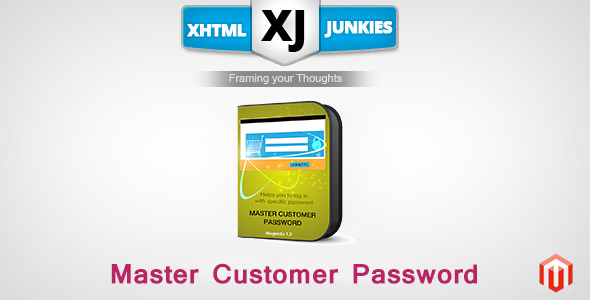 Master Customer Password - CodeCanyon Item for Sale