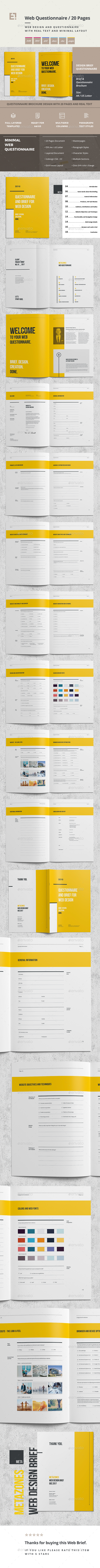 Questionnaire Web Design - Corporate Brochures