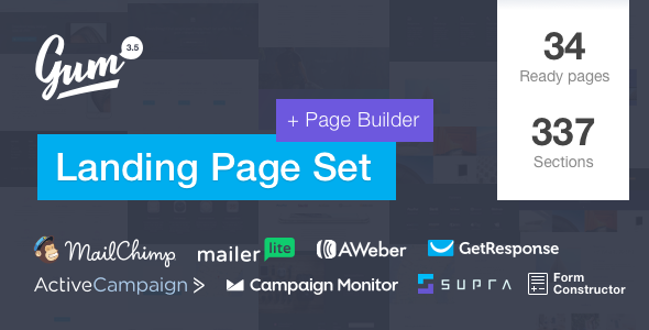 Gum - Landing Page Set with Page Builder