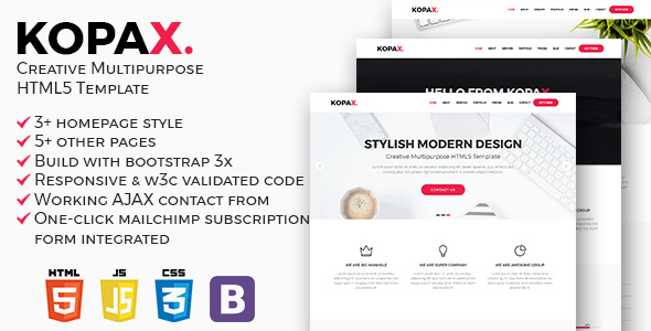 Kopax – Creative Multipurpose HTML5 Template