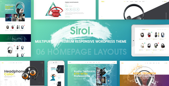 Sirol - Headphone Digital Accessories WordPress Theme - WooCommerce eCommerce