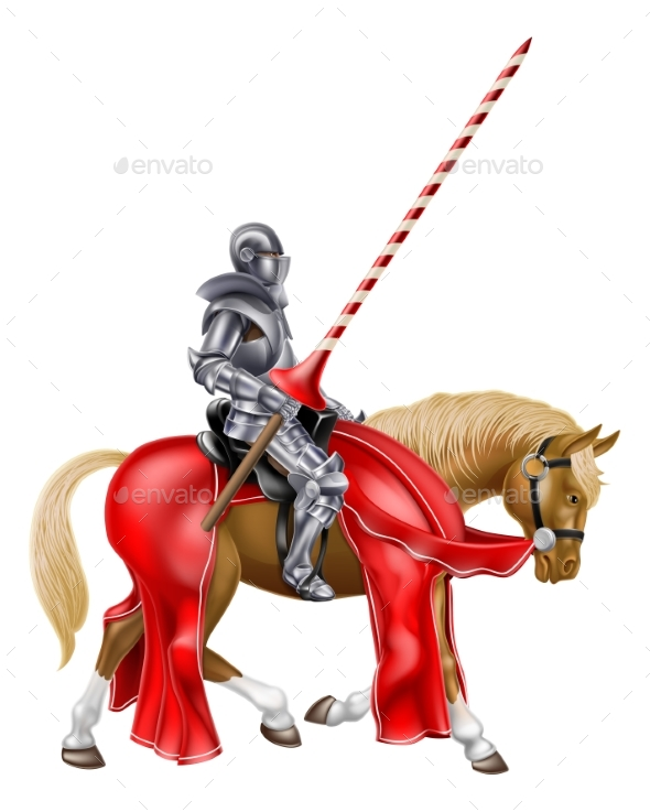 Medieval Knight on Horse - Buildings Objects