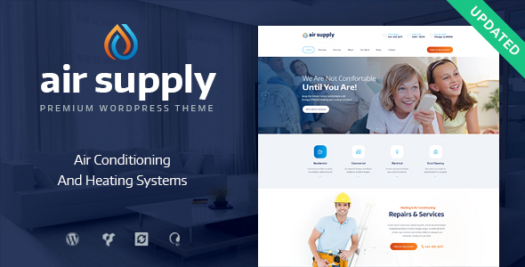 Air Conditioning Company and Heating Services WordPress Theme + RTL - Business Corporate