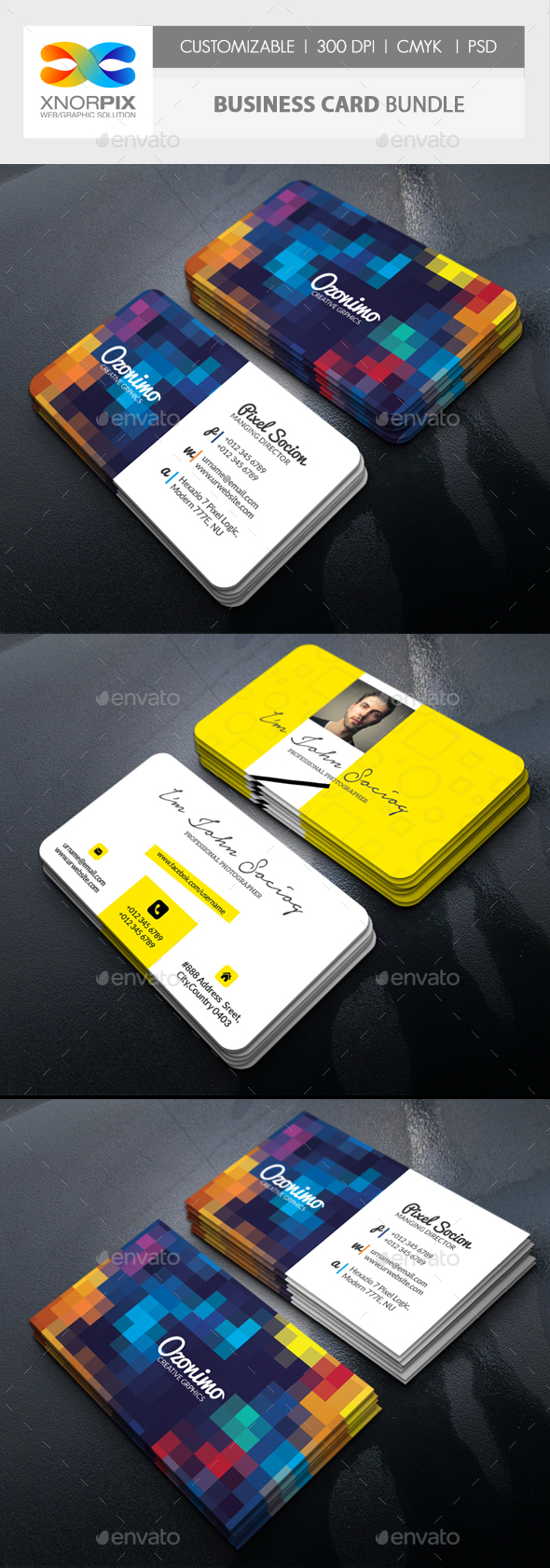 Business Card Bundle by -axnorpix | GraphicRiver